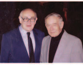 Autoři somatomedinů a somatostatinu – prof. Marek s prof. L. Krulichem v roce 2000.