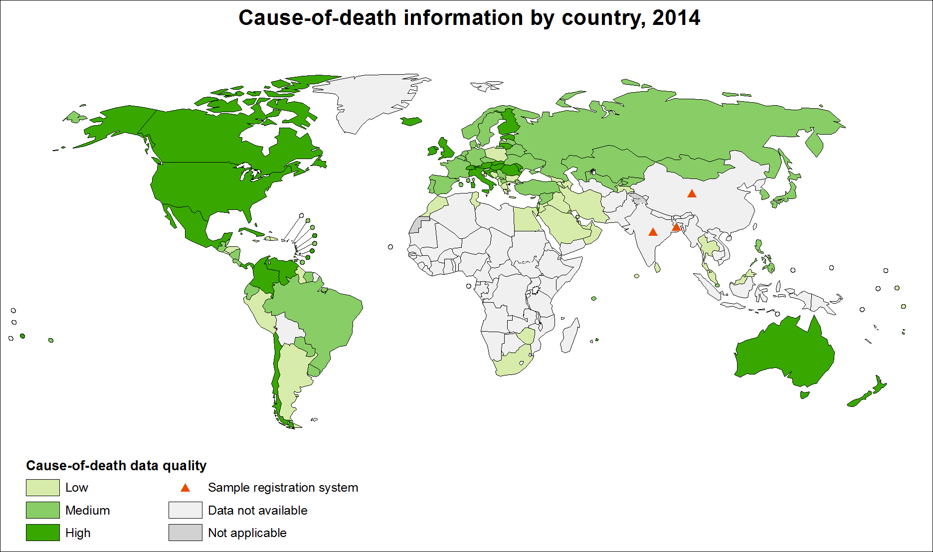 Cause-of-death information by country, 2014 [<em class=&quot;ref&quot;>3</em>].