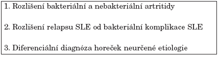 Předpokládané využití PCT v revmatologii.
