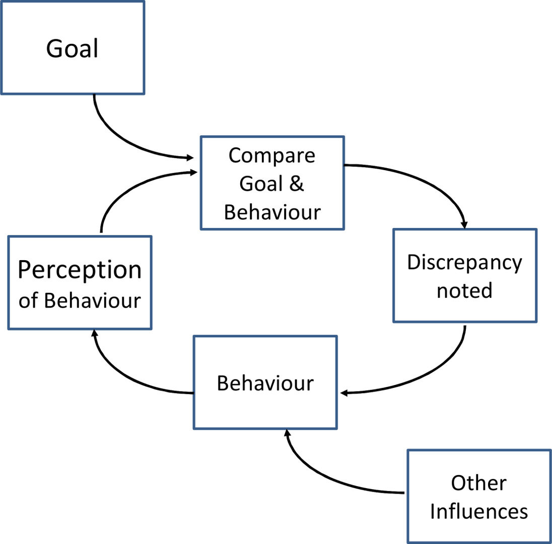 """Example of the control theory model used for coding interventions in a review of audit and feedback studies by Gardner et al. <em class=""""ref"""">[16]</em>."""