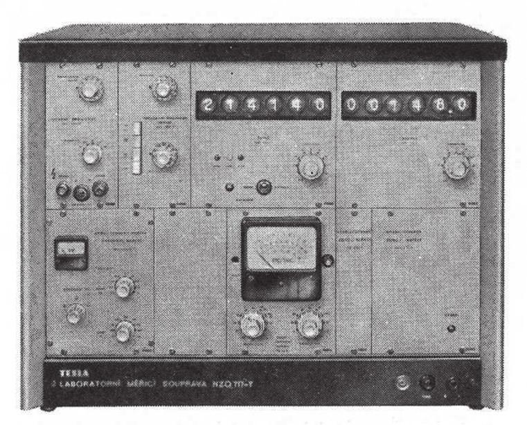 Tranzistorový spektrometr NZQ 717, výroba VÚPJT
