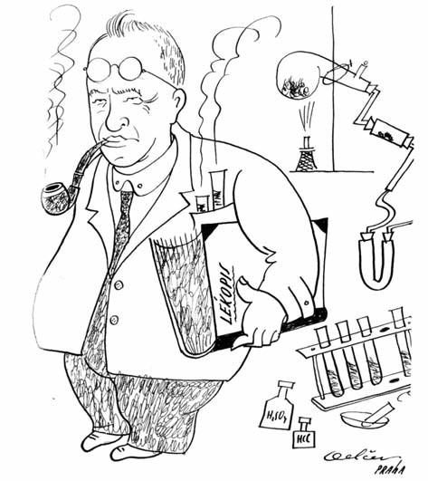 Profesor Jan Stanislav Štěrba-Böhm – kresba bulharského studenta Delčeva