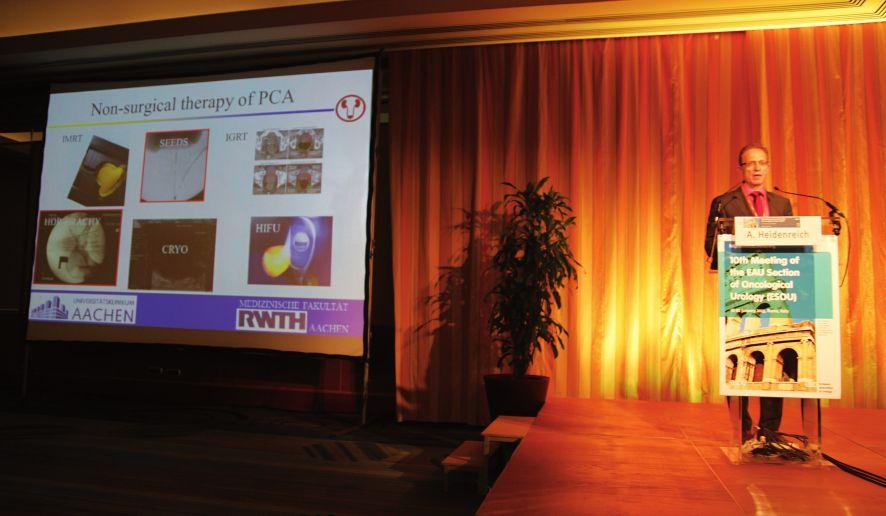 Prof. Axel Heidenreich přednáší na téma Role of salvage radical prostatectomy