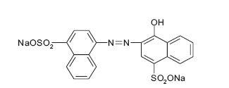 Fig. 1. Carmoisine