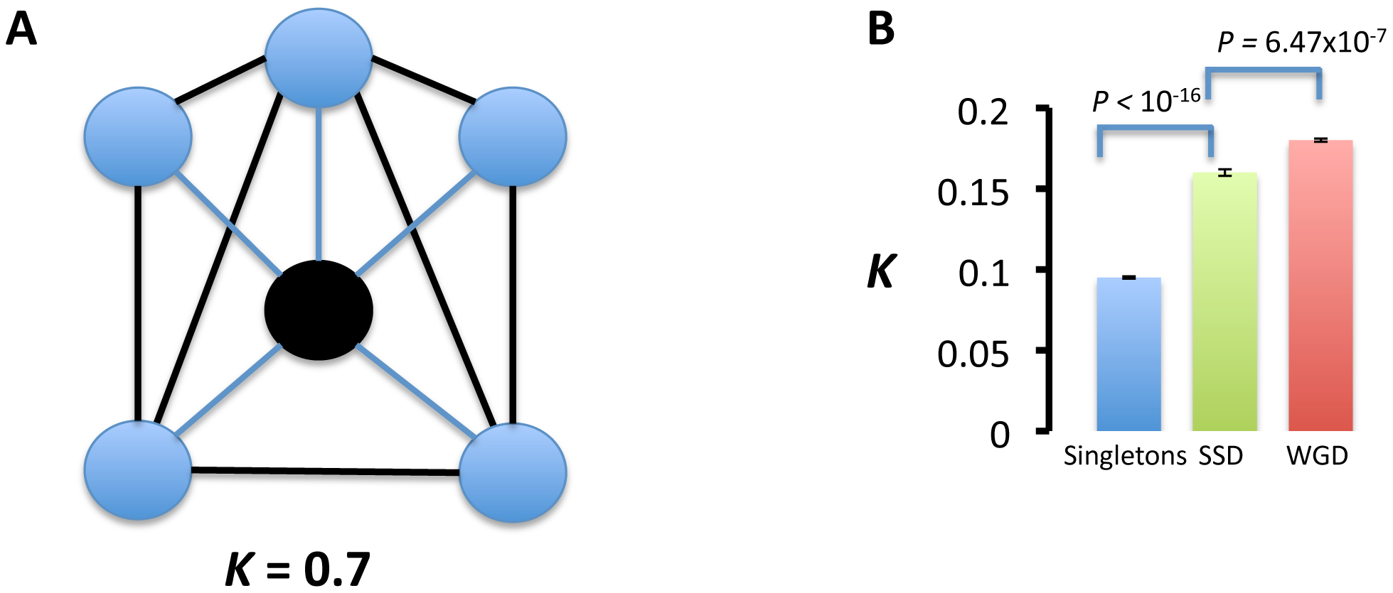 Interaction partners of duplicated genes are more functionally related than those of singletons.