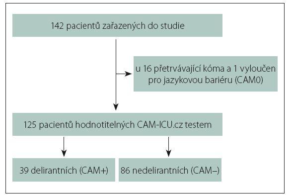 Schéma 1. Zařazení pacientů.