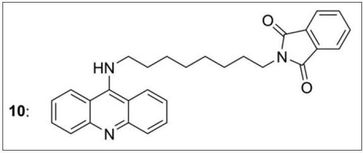 Nejúčinnější sloučenina ze série takrin-donepezilových hybridů