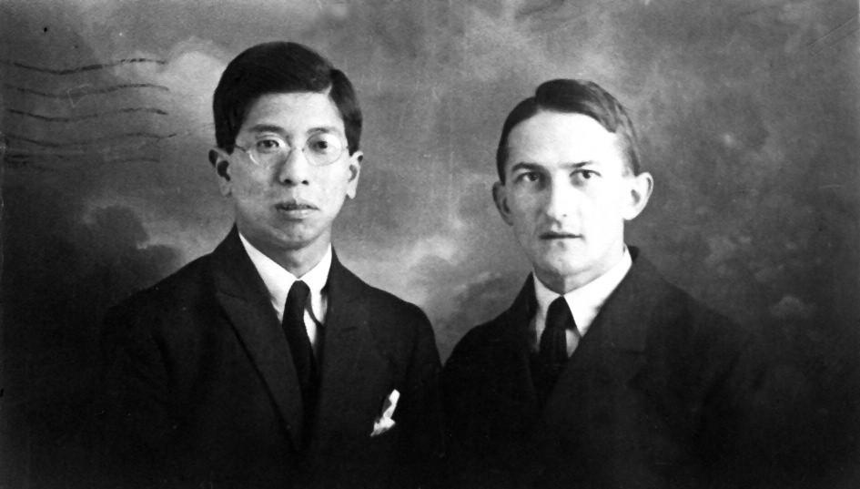 Masuzo Shikata a Jaroslav Heyrovský