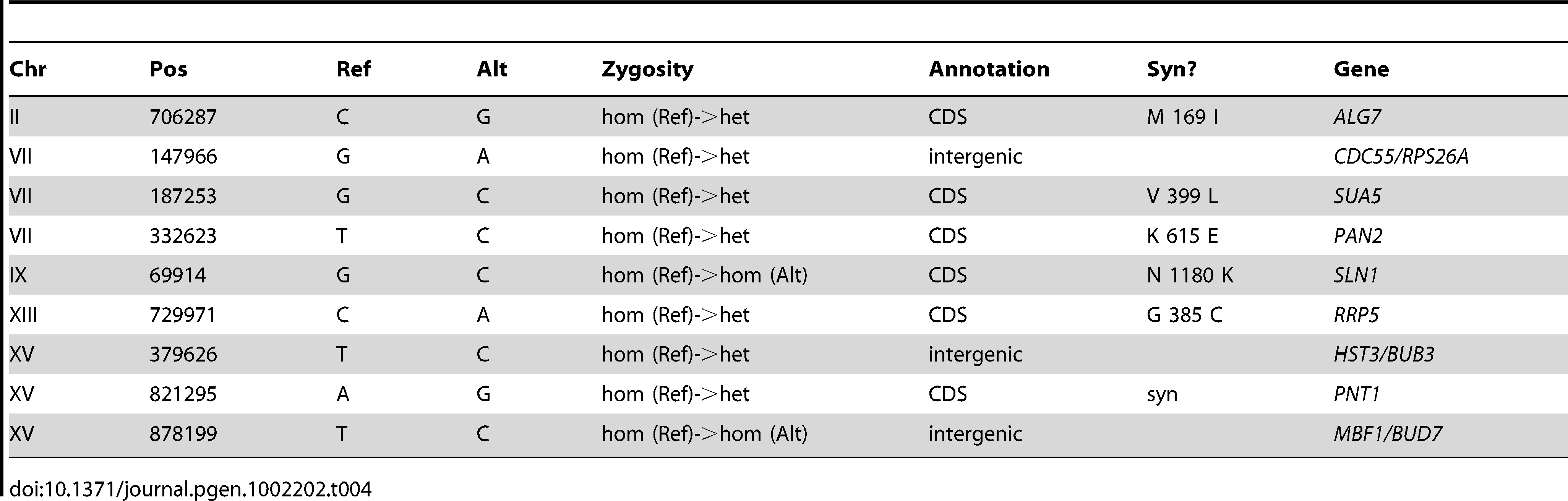 Summary of Substitutions and Indels for E4 (301 generations).
