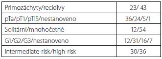 Charakteristika tumorů Tab. 1. Characterization of tumors