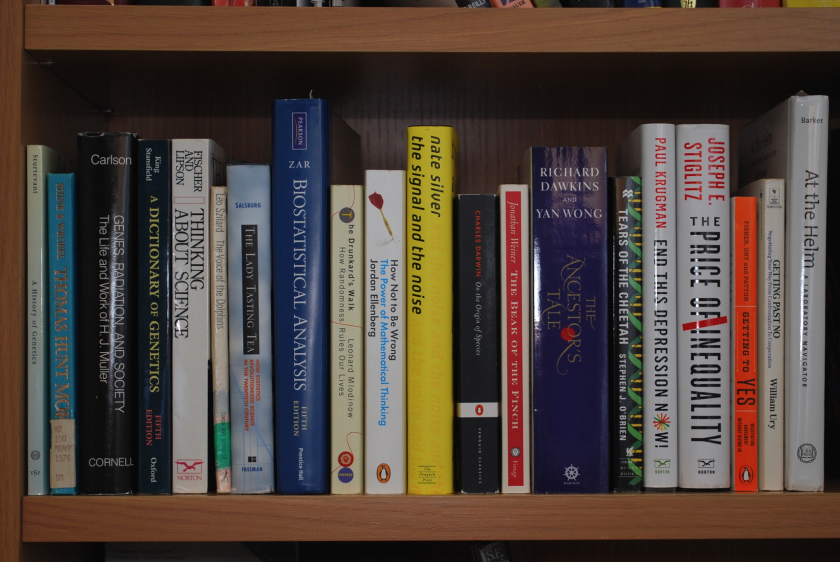 Some books the author has enjoyed.