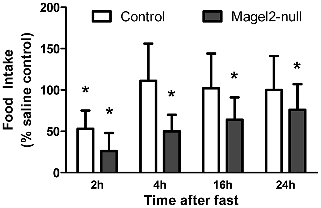 Effects of intraperitoneal MT-II on food intake.