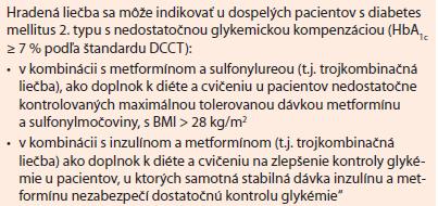 Dapagliflozín. Indikačné obmedzenie platné od 1. 6. 2014