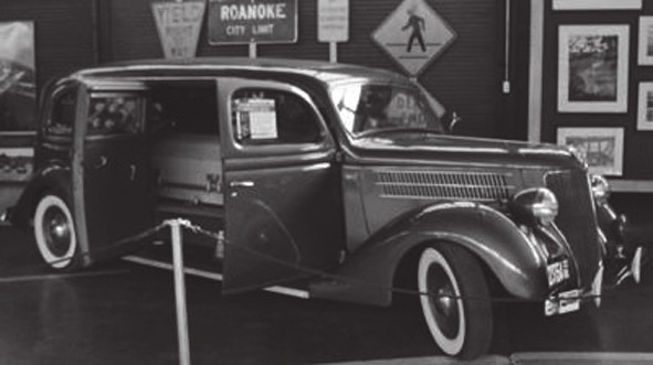 Kombinovaný automobil ambulance/pohřební vůz, Siebert Ford, 1936 (The Virginia Museum Of Transportation, Roanoke Virginia, USA)