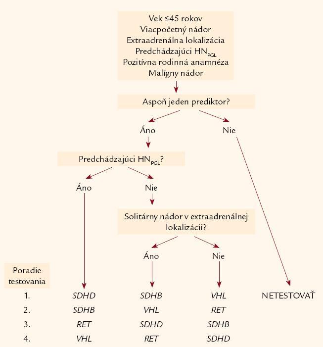 Algoritmus genetického vyšetrenia pri zdanlivo nesyndrómovom FEO/PGL – podľa [8].