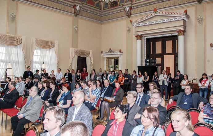 Odborný lékařský program v Muchově sále pozorně sledovalo 160 účastníků. Fig. 1. Specialised medical programme in the Mucha Hall was followed by 160 participants.