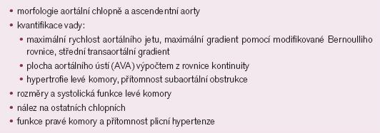 Hodnocení aortální stenózy.