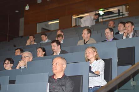 Foto 3. Záběr z přednáškového sálu Photo 3. Shot from the lecture hall
