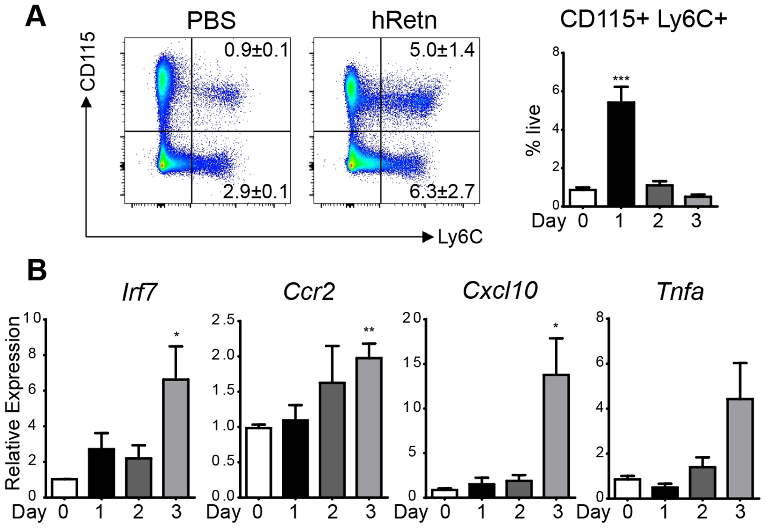 hResistin recruits inflammatory monocytes.