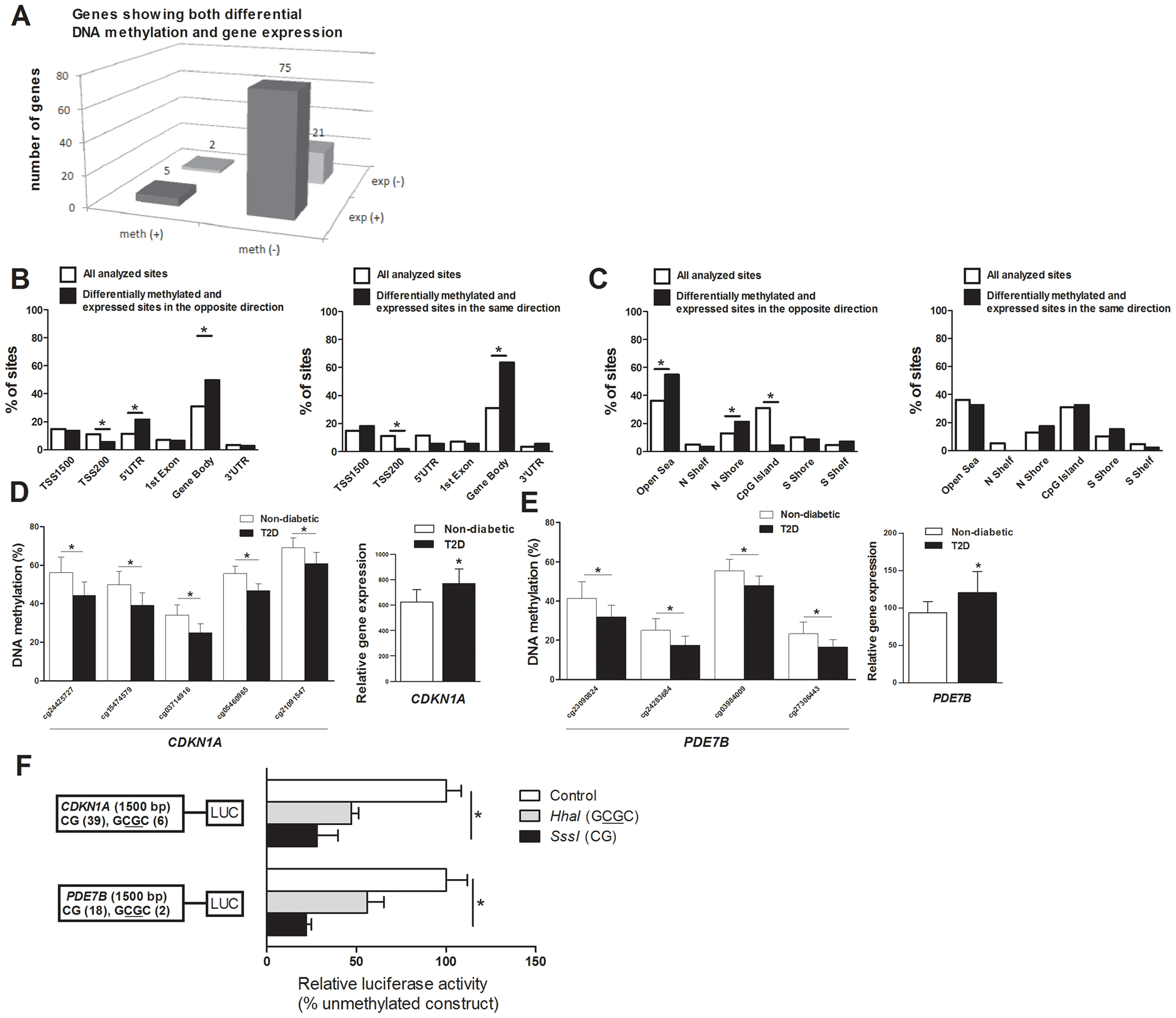 Relation between DNA methylation and gene expression in human pancreatic islets.