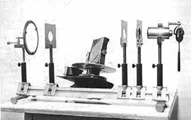 Heliostat. Meyer-Schwickerathův sluneční koagulátor s Galileovým teleskopem (1949)
