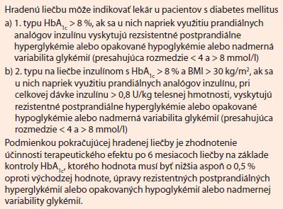 Glucerna Triple Care. Aktuálne platné indikačné obmedzenie