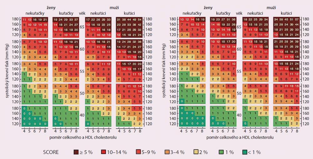 Nomogram SCORE pro českou populaci [13].