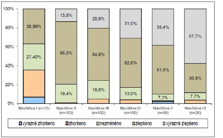 Subjektivní hodnocení léčby nemocnými Graph 6. Patients' subjective evaluation of treatment