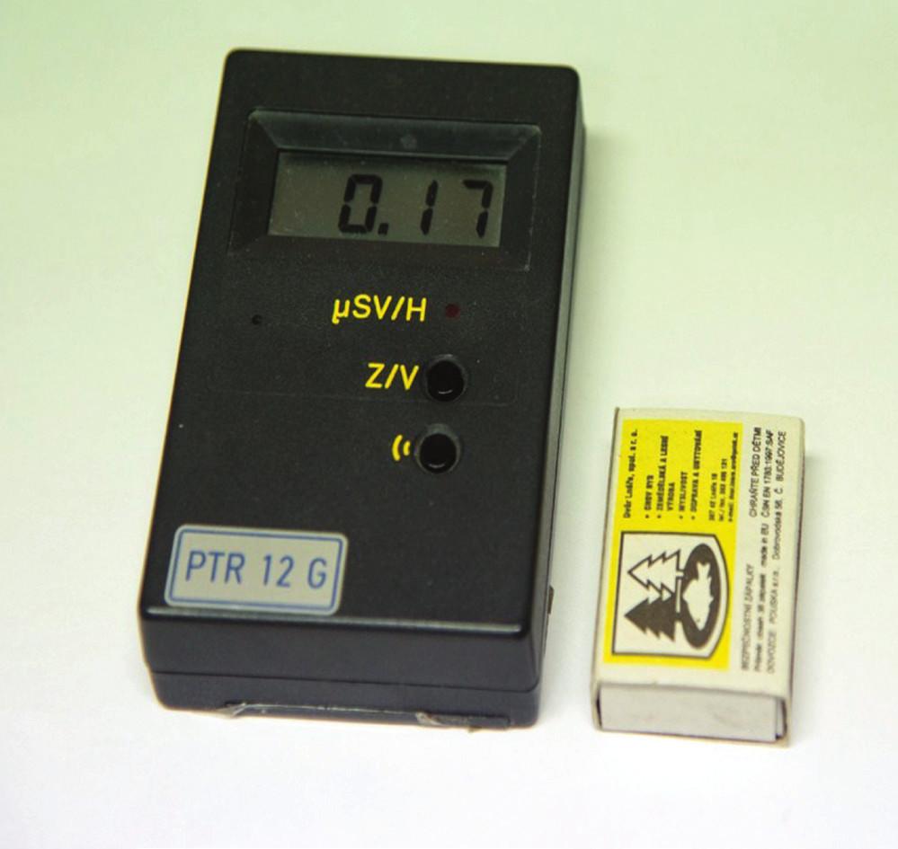 Měřič dávkového příkonu PTR 12 G (s GM detektorem), výroba V. Zítek