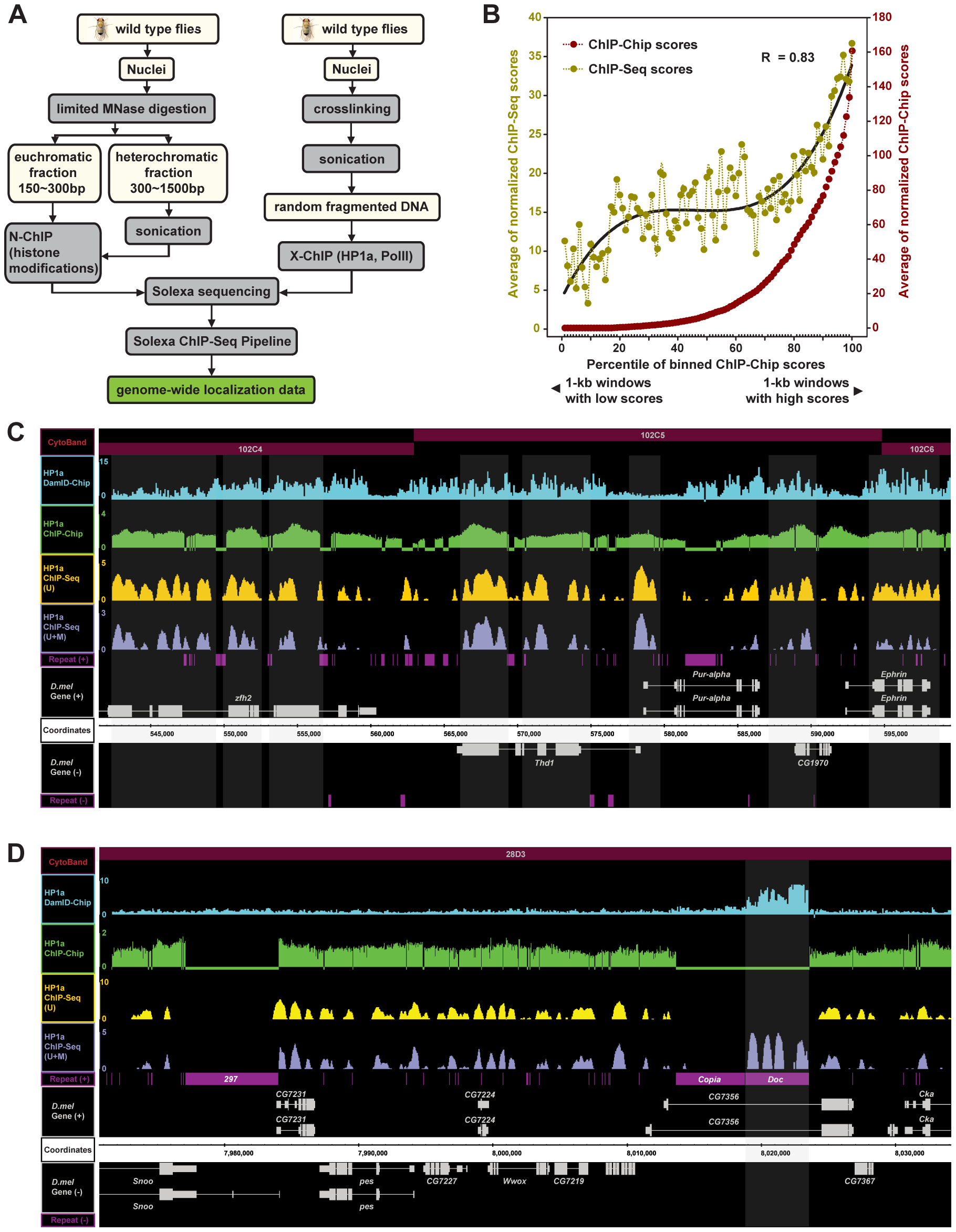 A modified ChIP-Seq method for high-resolution whole-genome mapping of chromatin modifications and the validation of the method.