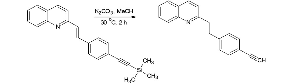 Hydrolysis of styrylquinoline
