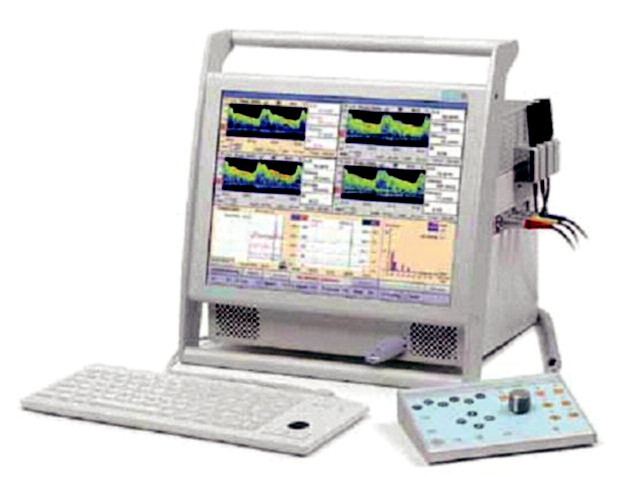 Přístroj Waki (Atys Medical) vybavený M-modem* používaný na našem pracovišt