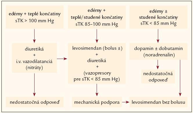 Schéma 1. Prax v liečbe akútne dekompenzovaného SZ.