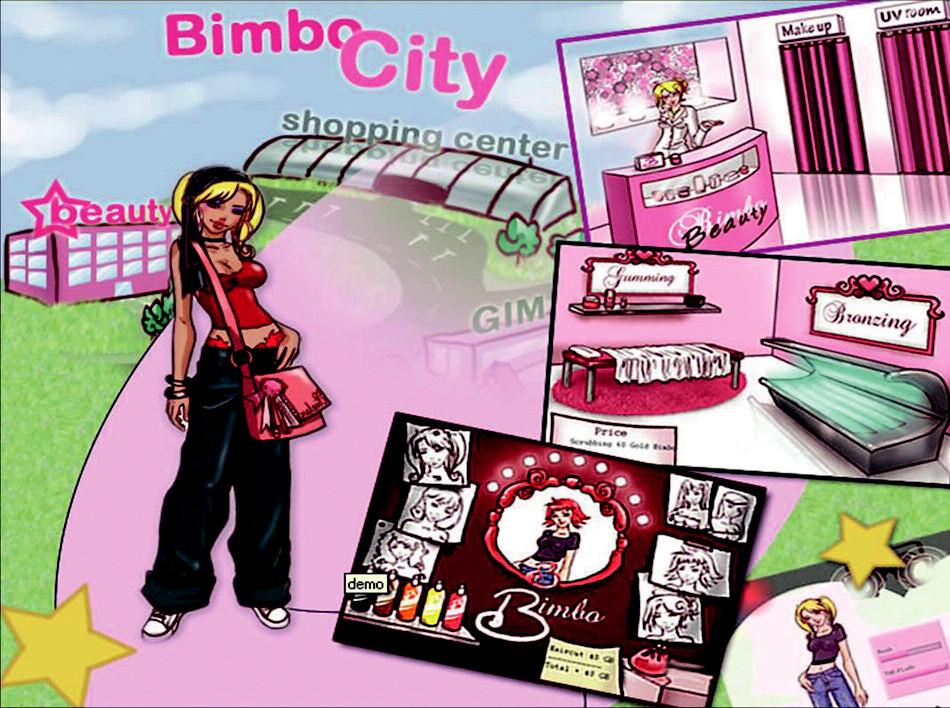 Ukázka z internetové hry Miss Bimbo.