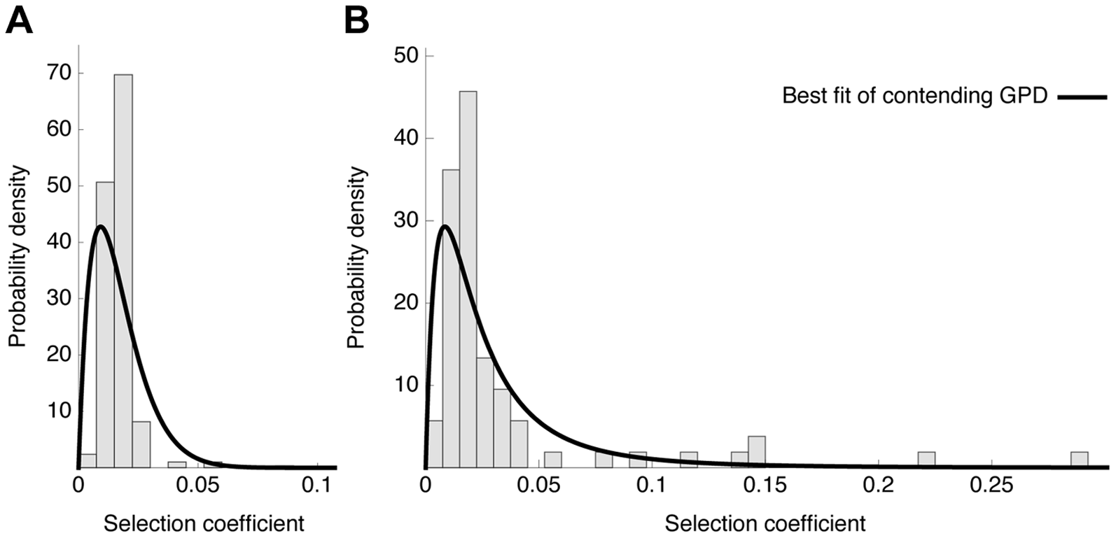 Distribution of fitness effects.