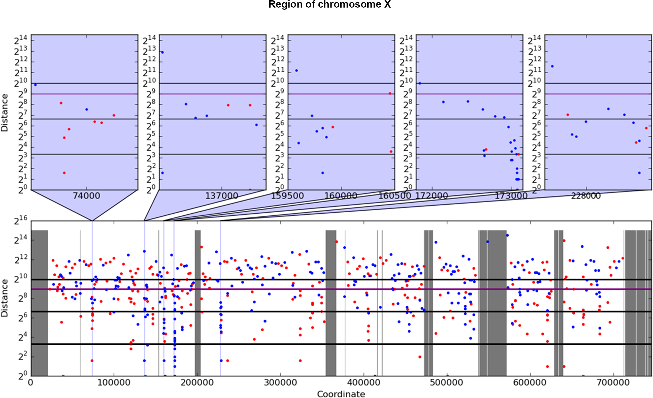 Example of rainfall plot showing mutation clusters in PmCDA1-induced mutants.