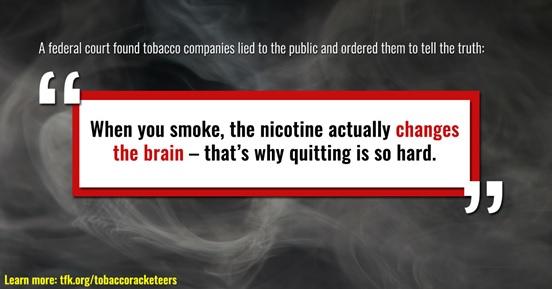 """Když kouříte, nikotin skutečně mění váš mozek – proto je tak těžké přestat kouřit (<a href=""""https://www.tobaccofreekids.org/"""">www.tobaccofreekids.org</a>)"""