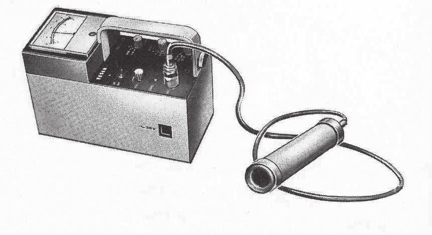 Scintilační měřič dávkového příkonu NRG 302, výroba VÚPJT