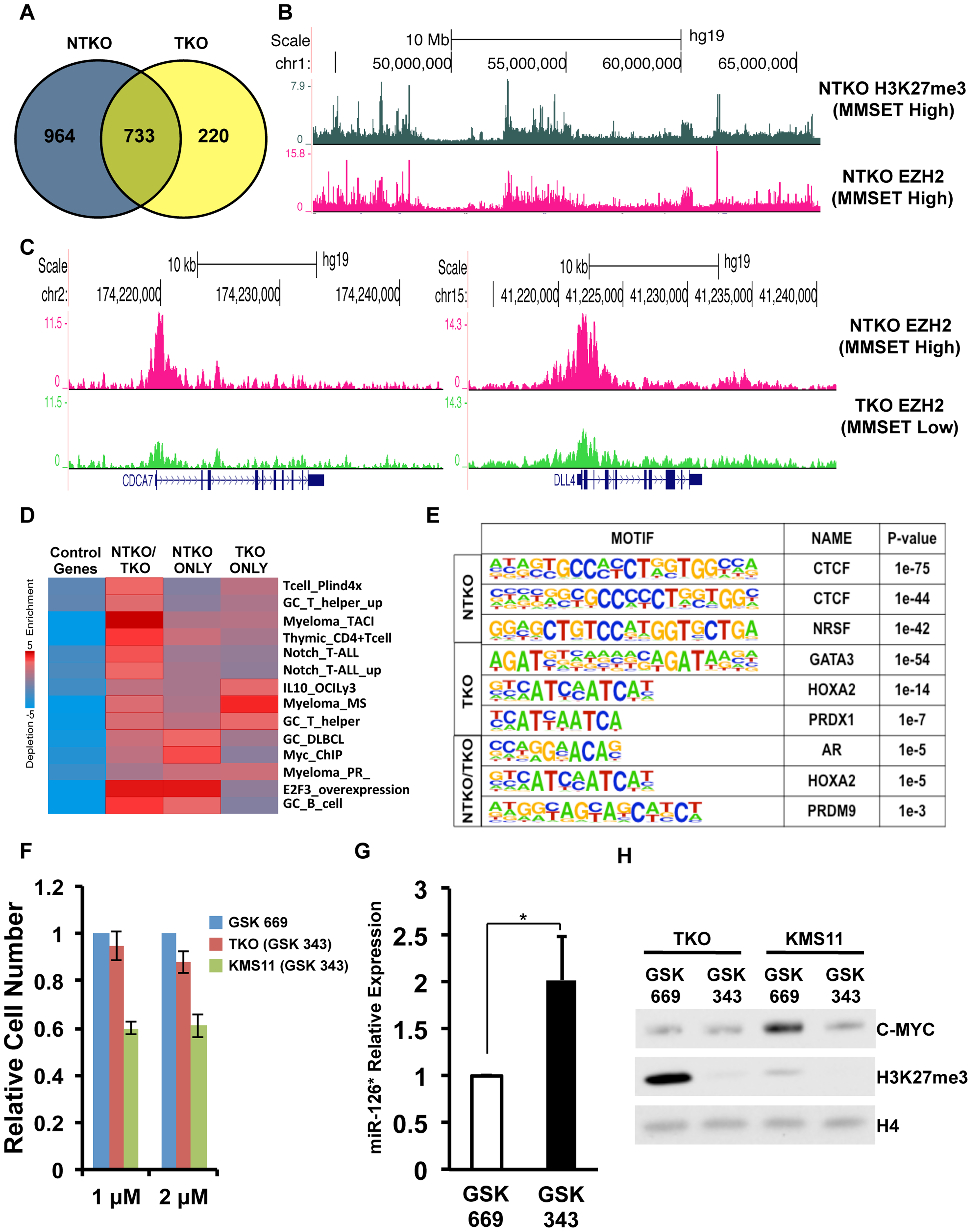 MMSET alters EZH2 binding in t(4;14)+ myeloma cells.