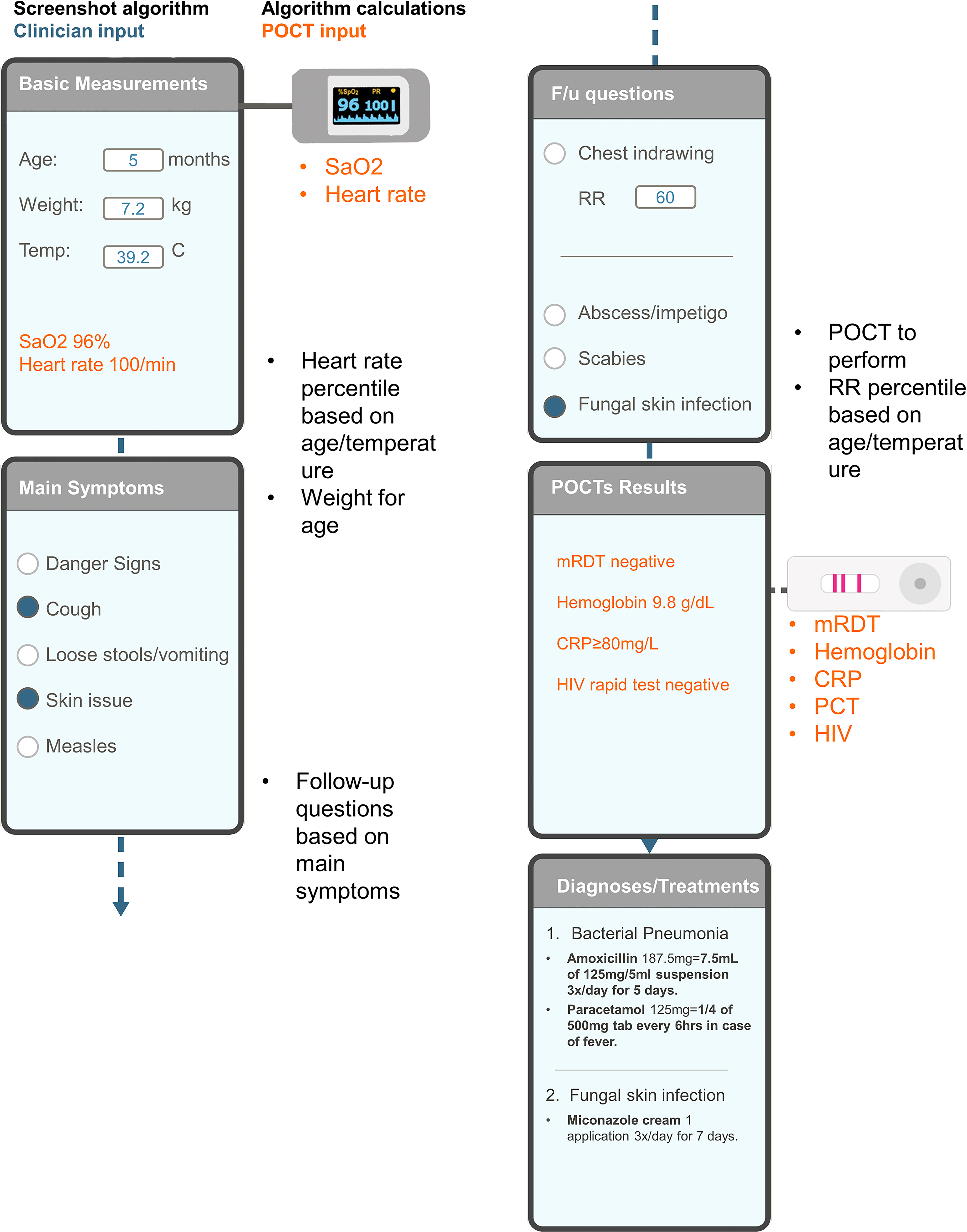Schematic representation of the e-POCT algorithm.