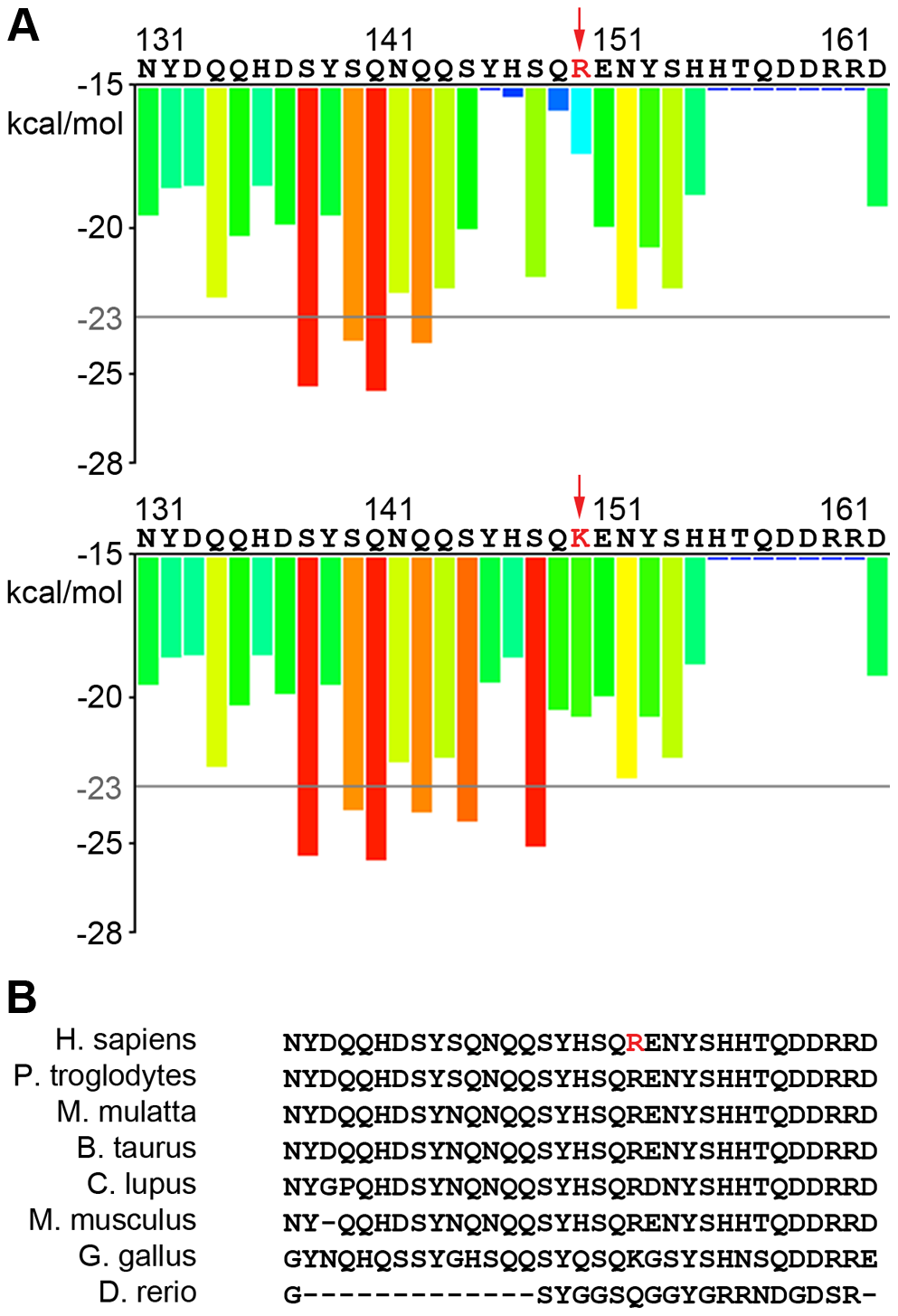Predicted effects of new TAF15 variant on aggregation and conservation.