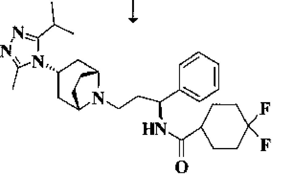 Chemický vzorec maravirocu
