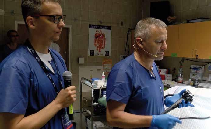 Prof. Tantau před zahájením endoskopie.