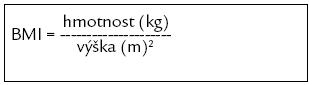 Výpočet body mass indexu.