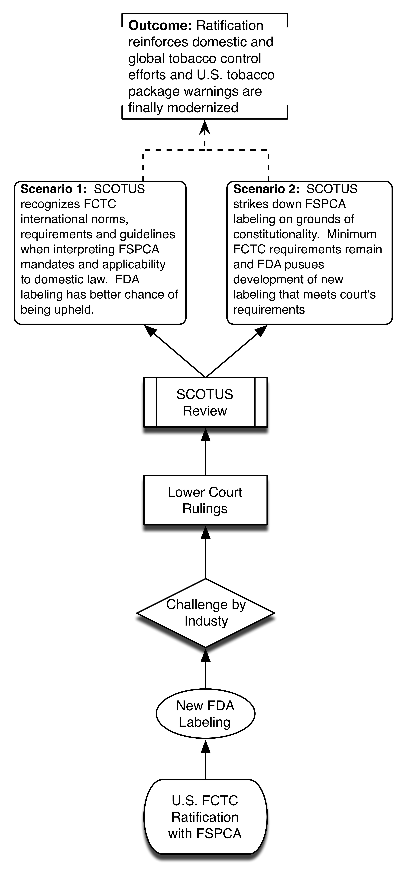 Policy scenario of successful US ratification.