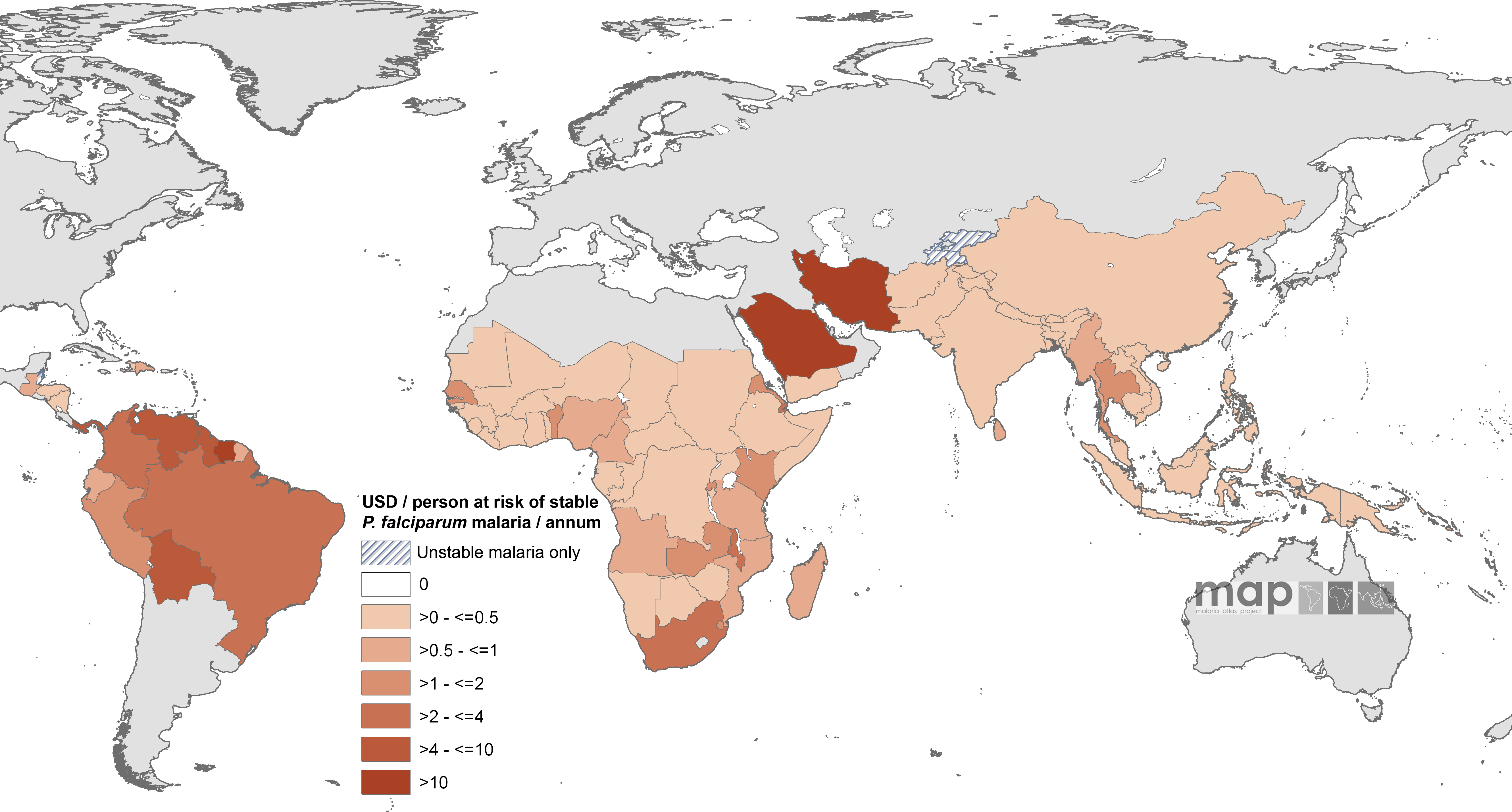 Mean Approved Non-GFATM Funding for 87 <i>Pf</i>MECs Expressed as US Dollars (USD) Per Capita at Stable P. falciparum Risk Per Annum