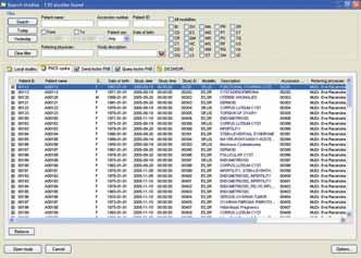Vyhledávání požadovaných záznamů v anonymní výukové databázi.