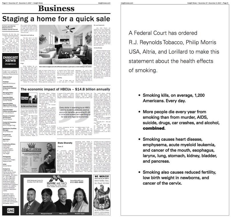 Dvojstránka New York Times z 3. 12. 2017