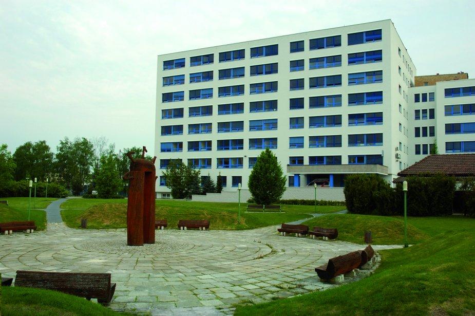 Pavilon C, sídlo Onkologického oddělení Nemocnice České Budějovice, a. s.