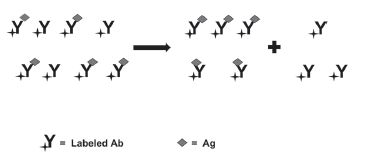 Fig. 4. Use CE to separate and detect bound vs. non-bound labeled Ab